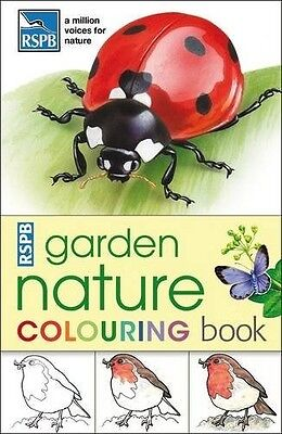 RSPB Garden Nature Colouring Book - New Book .