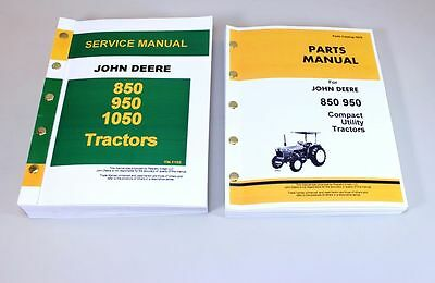 John Deere 850 950 Tractor Service Repair Manual Parts Catalog Shop Book