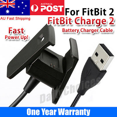 Replacement Charging Cable for Fitbit CHARGE 2 Wristband USB Charger - AU SELLER