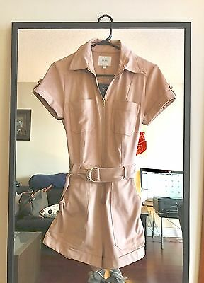 New With Tags Guess Anja Faux-Suede Military Romper, Size S