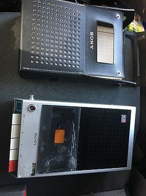 Sony Cassette Recorder Tape Player TC-110A Vintage Solid State Untested