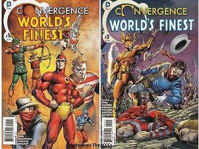 Convergence WORLD'S FINEST 2015 Complete Set #1 & #2 Of 2 DC Comics SALE 25% Off
