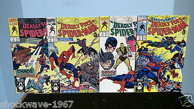 1991 DEADLY FOES OF Spider-Man Issues #1,2,3 & #4 Of 4 Complete Limited Series