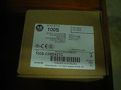 NIB Allen-Bradley 100S-C09D431C  Series A Safety Contactor - 60 day warranty