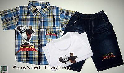 BNWT 2016 Cars McQueen shirt boys tank embroidered top 3//4 denim pants 3pc set