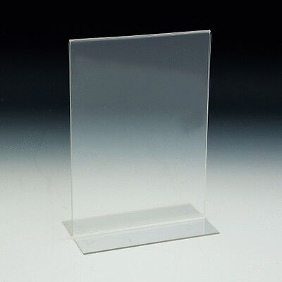 "8.5""x11"" Bottom Load Table Tent / Sign Holder, Pack of 20"
