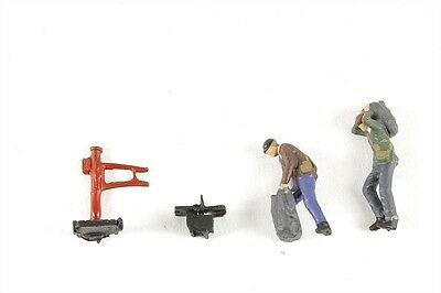 Coalmen x 2 with Scales - Model Trains OO / HO - Fully painted/assembled