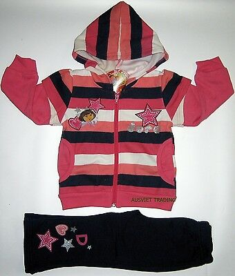 Brand new Dora Track Suit girls kids Hoodie jacket and pants outfit set
