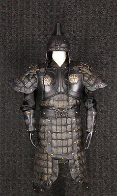 Chinese Copper Hand leather helmet and armor General Warrior Cloth Lion zhangfei