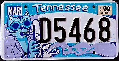 """TENNESSEE """" ARTS - SAXOPHONE CAT - PET """" TN Graphic License Plate"""