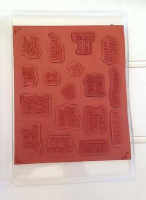 Stampin Up Something to Say  -  Retired Clear stamp set