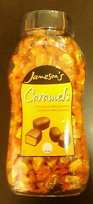 Jamesons Caramels. Caramels covered in milk chocolate. A full jar of 1.5kg