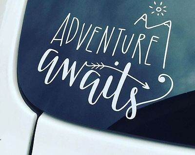 Adventure Awaits Car Decal