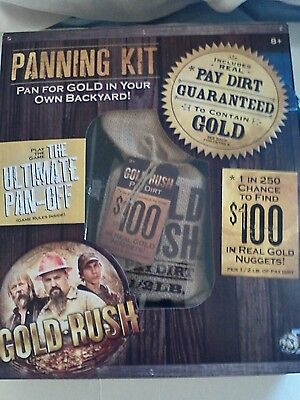 New in Box Discovery Channel Pay Dirt Gold Co.Gold Rush Panning Kit!!!