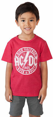 AC/DC Rock Band Toddler Baby Boys Graphic T-Shirt - Red