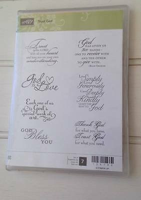 Stampin Up Trust God -  Retired Clear stamp set