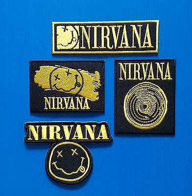 4 Lot NIRVANA 3 TO 5. INCH  Iron Or Sewn Patches W/ Free Ship