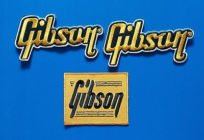 3  LOT GIBSON GUITAR Embrodered Iron Or Sewn On Patches Free Ship