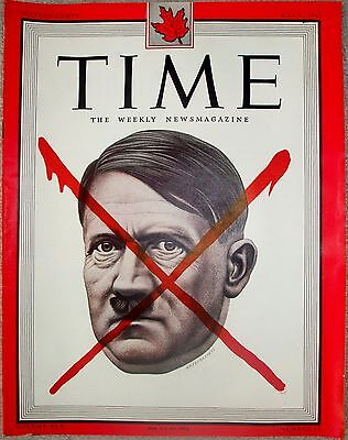 Time Magazine May 7 1945 Hitler  Very Rare Canadian Edition