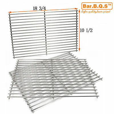 NEW Set of 3 BBQ Barbecue Replacement Stainless Steel Cooking Grill Grid Grate