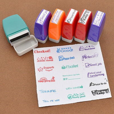 1X Various School Teacher Stamp Self Inking Student Comments Stamp Kawaii