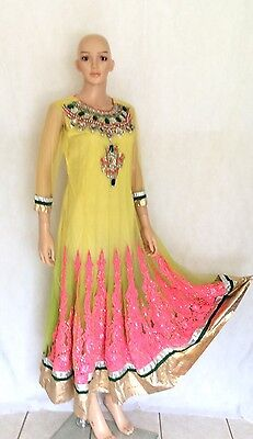 Ethnic Women Anarkali Dress Indian Pakistani Designer Bollywood Salwar Suit Wear