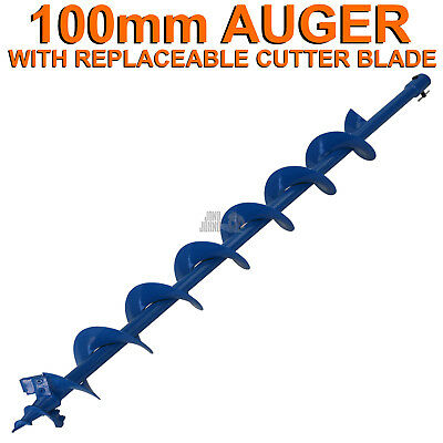 100mm x 100cm Earth Auger Fence Borer Drill Bit For Perla Barb Post Hole Digger