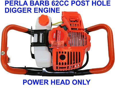Post hole Digger 62cc Petrol Engine Only Earth Auger Drill Fence Borer Posthole