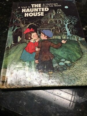 Vintage Halloween A Visit To The Haunted House Troll Book Hallmark Pop-Up Book