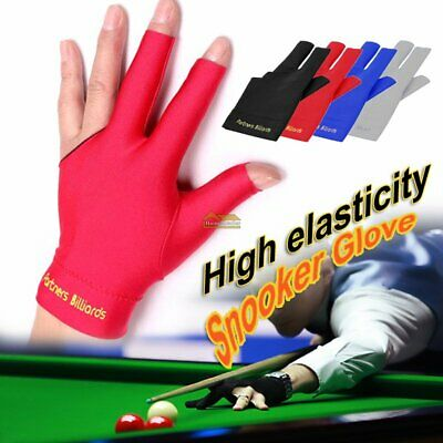 Spandex Snooker Billiard Cue Gloves Pool Left Hand Open Three Finger Glove FT