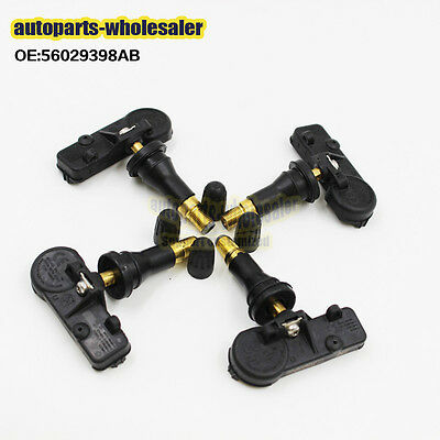 4PCS OE 56029398AB Fit Chrysler Jeep Dodge Ram TPMS Tire Pressure Sensor 433Mhz