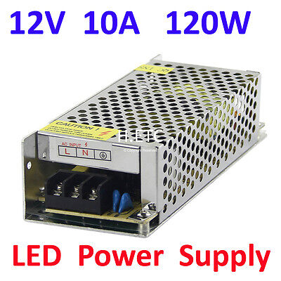 DC 12V 10A 120W Regulated Switching Power Supply Driver for LED Strip Light Lamp
