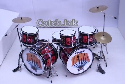 Keith Moon The Who Drum Set Miniature Replica For Display Only