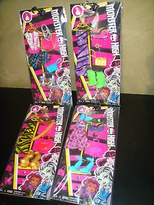 Bulk Lot Of 4 Brand New Monster High Fashions Full Set Of Clothes