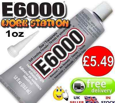 E6000 Glue Multi-Purpose Industrial Strength Craft Beads 29.5ml or Extra Nozzle
