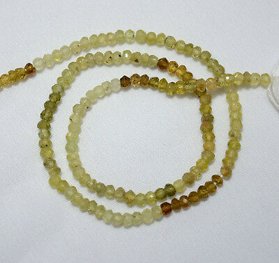 3mm Grossular Garnet Micro Faceted Rondelle Gemstone Beads 13.5 Inches Strand