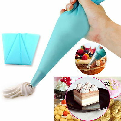 34cm Silicone Reusable Icing Piping Cream Pastry Bag Cake Decorating Tool DIY I6