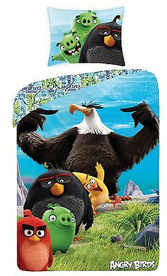 ANGRY BIRDS EAGLE Single Bed Duvet Cover Set 100% COTTON