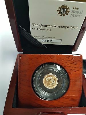 2017 Gold Proof Quarter Sovereign with CoA - Pistrucci Garter 200th Anniversary