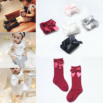 Cute Cotton Kids Toddlers Baby Girls Knee High Leg Warmers Socks Leggings