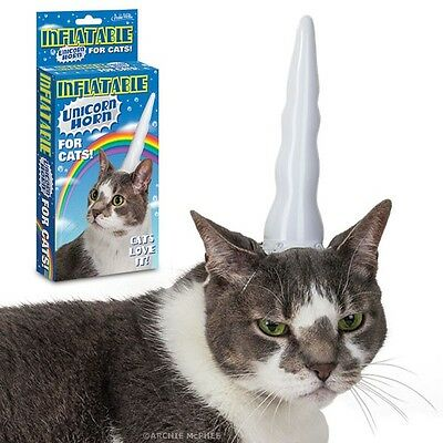 Fun Novelty Original Archie Inflatable Unicorn Horn For Cats - Fun Novelty Gift