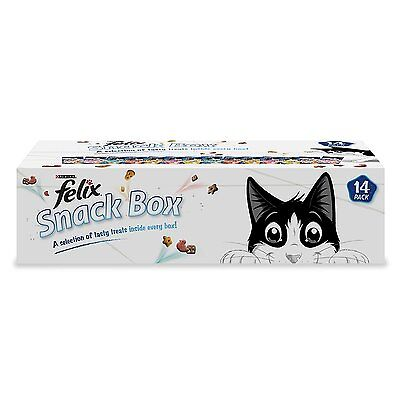 New Felix Tasty Cat Treats Snack Box - Pack of 14 (780g) with Proteins Vitamins
