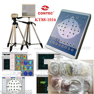 CONTEC New KT88-1016 Digital 16-Channel EEG Machine And Mapping System, Software