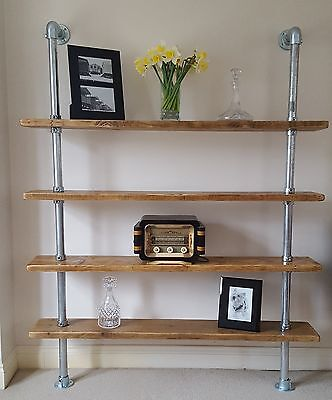 Reclaimed Scaffold Board Shelving Unit
