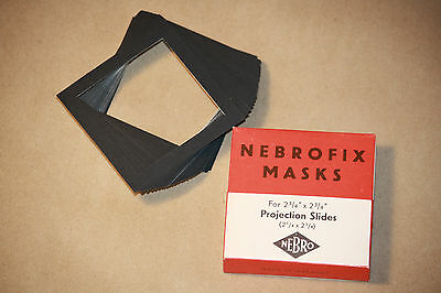 Vintage Nebro German Photographic Slide Masks Nebrofix for 2 ¾ x 2 ¾ Projection