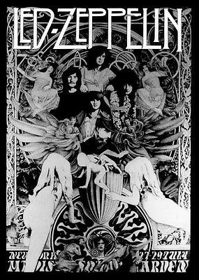 Led Zeppelin Repro 1973 Madison Square Garden New York Concert Poster 27-29 July