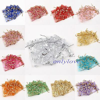 25/100 Organza Gift Bags Mixed Pouches Wedding Favour Candy Jewelry Bags Decor