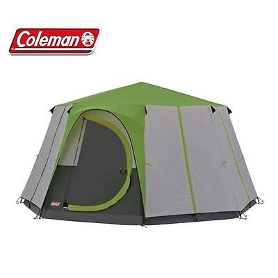 Coleman Cortes Octagon 8 Person Man Tent - Green - Camping Festival Glamping
