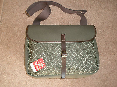 Canvas & Leather Game Bag With Net Pocket