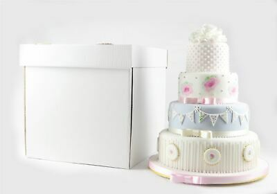 "Reusable Stacked Wedding Cake Boxes Extra Strong 18"" High - Select Size"